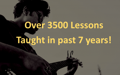 Over 3500 lessons taught